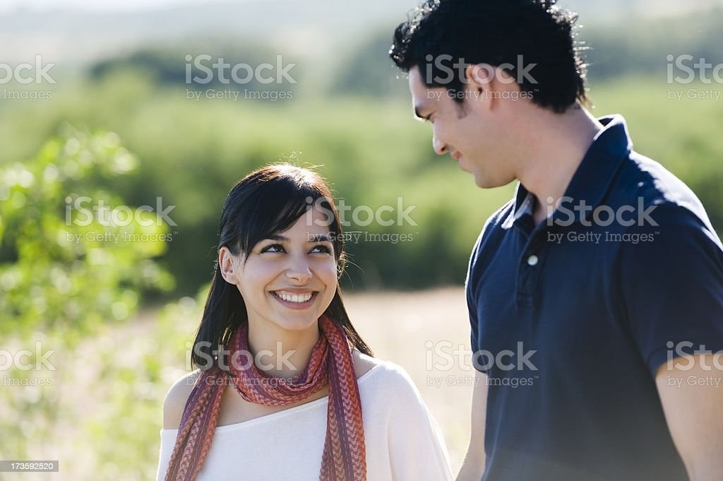 Enjoying each other royalty-free stock photo
