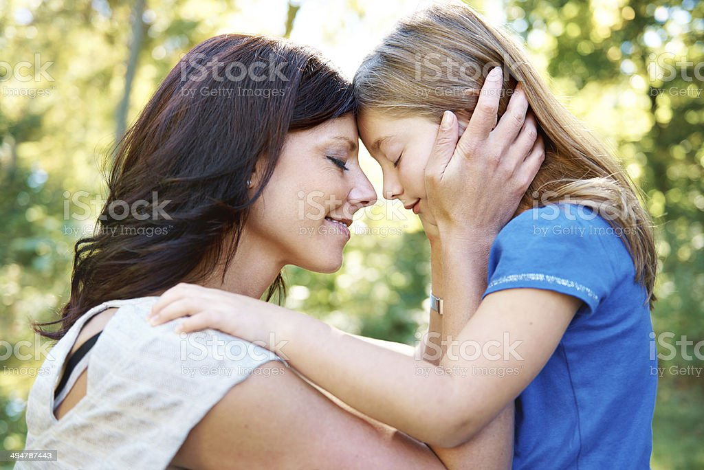 Enjoying each other's company in nature stock photo