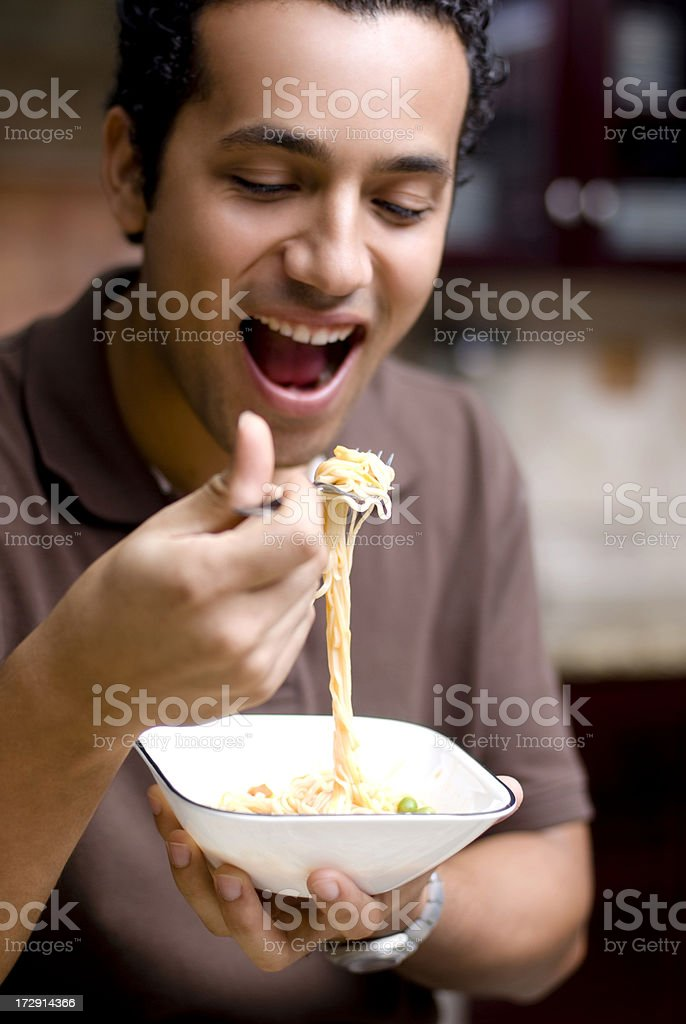 Enjoying food royalty-free stock photo