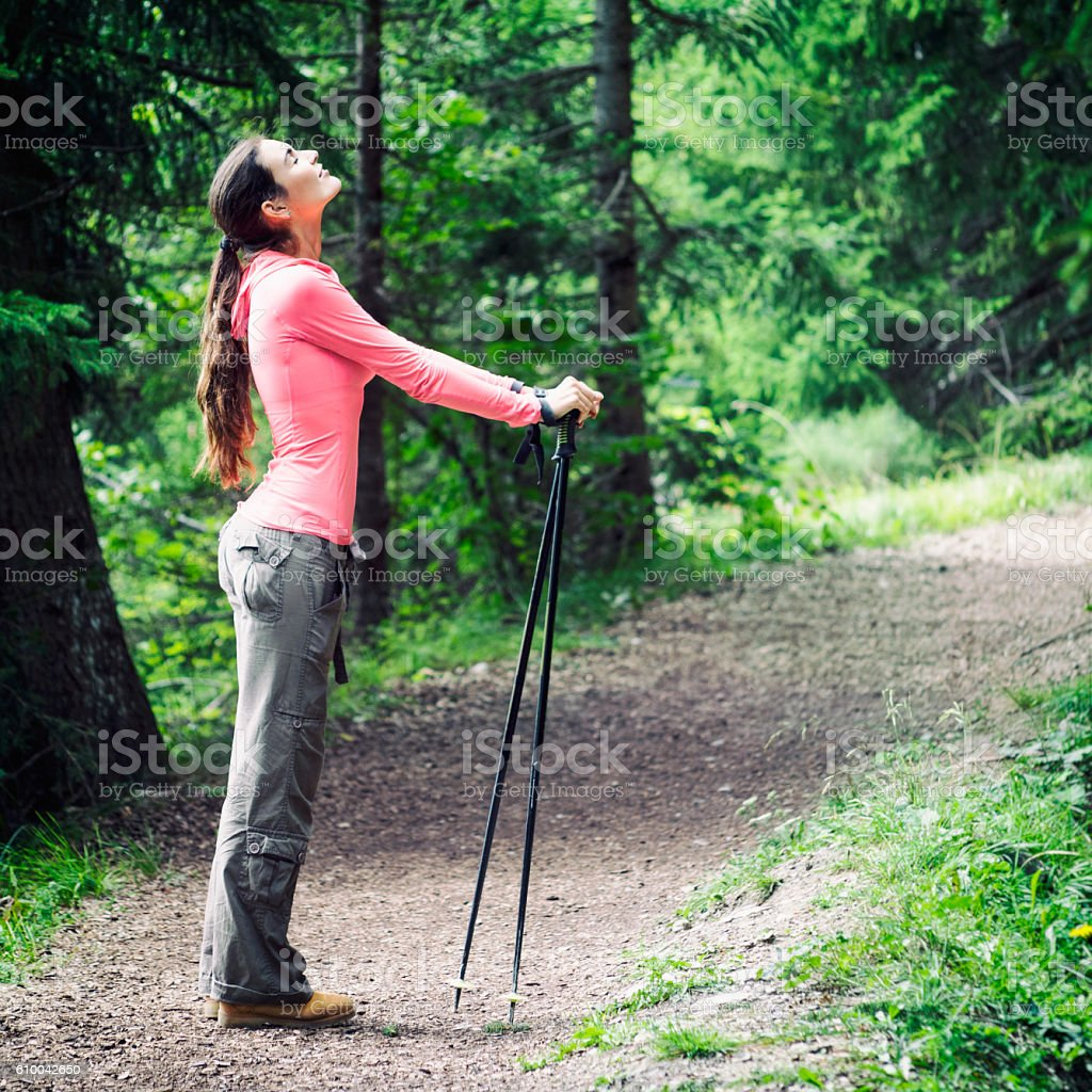 Enjoying Freedom in the Nature stock photo