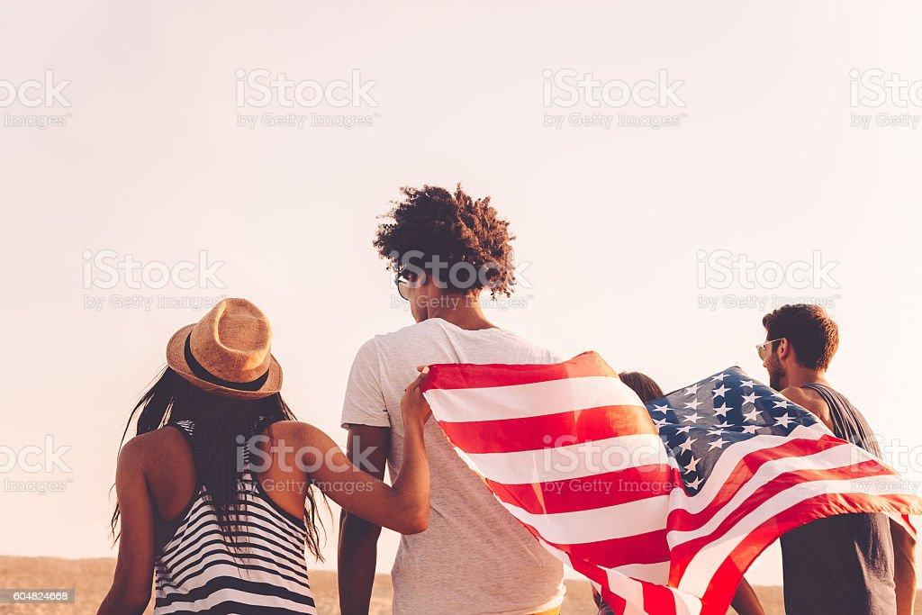 Enjoying freedom. stock photo