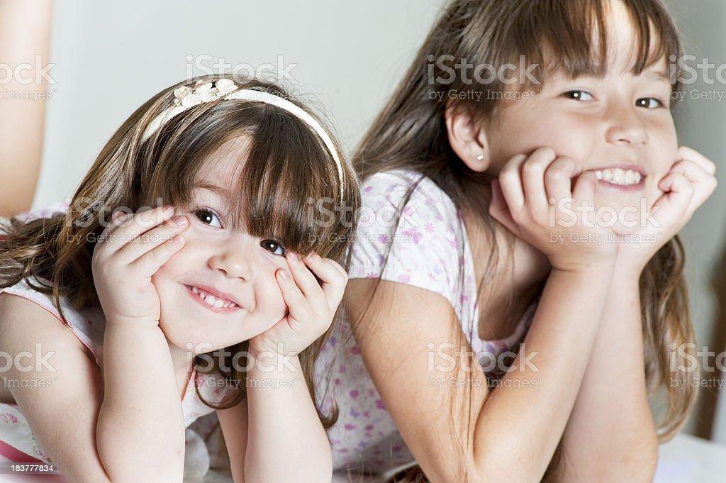 Enjoying friendship. royalty-free stock photo