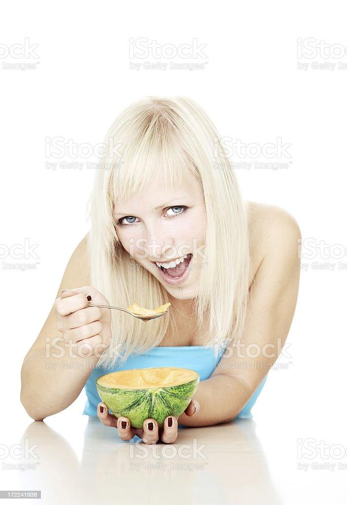Enjoying healthy meal royalty-free stock photo