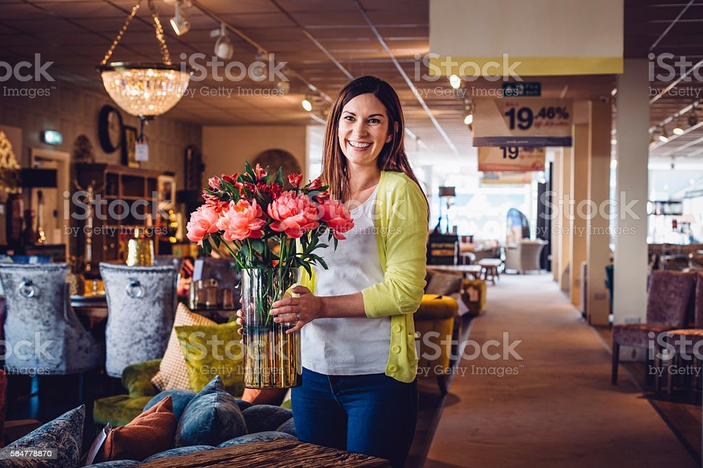 Enjoying her job! stock photo