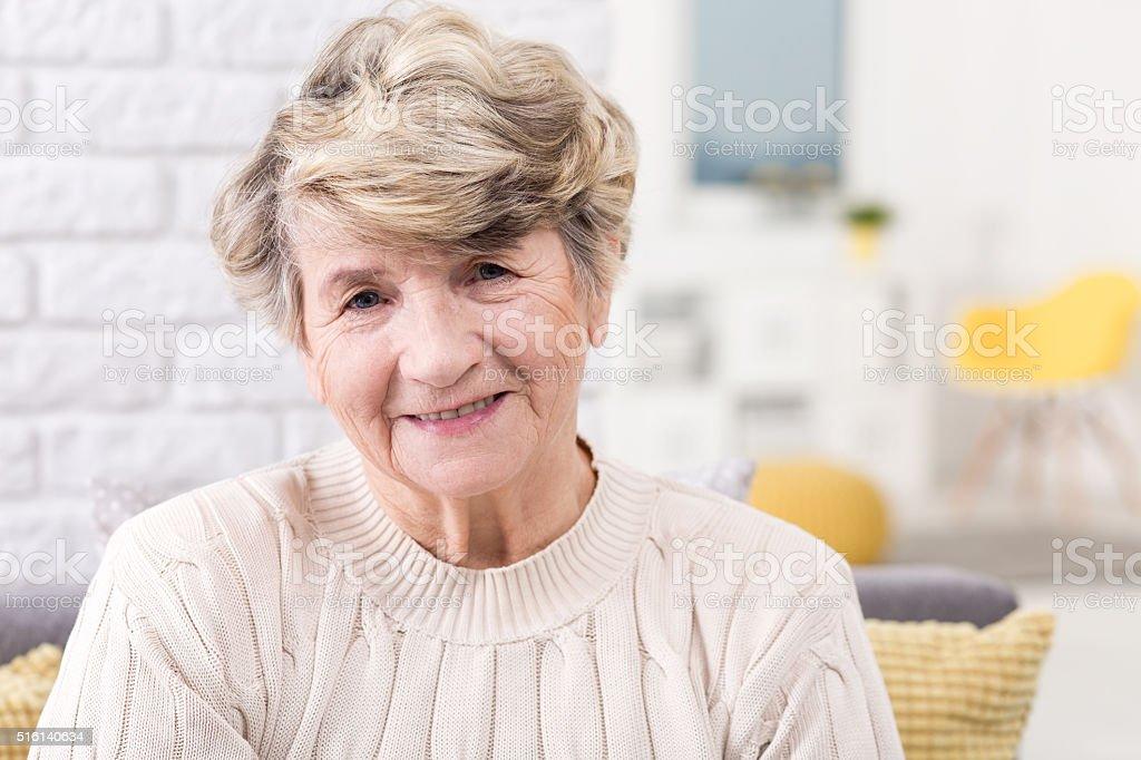 Enjoying her retirement stock photo