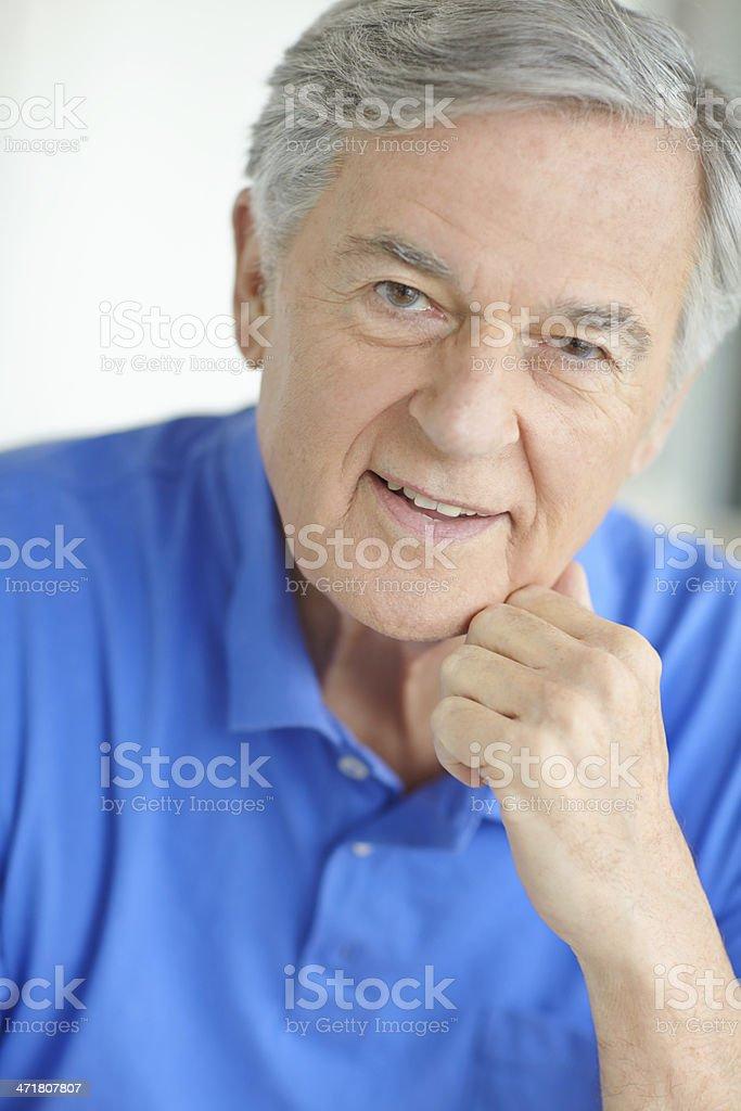 Enjoying his retirement royalty-free stock photo