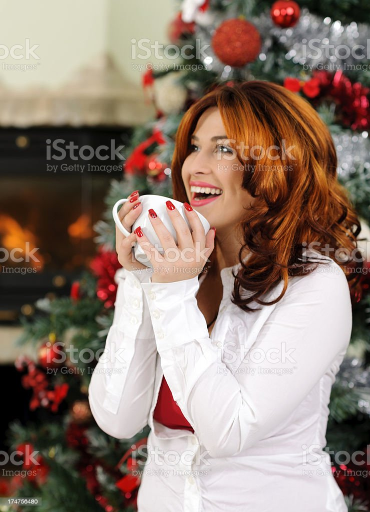 enjoying holidays royalty-free stock photo
