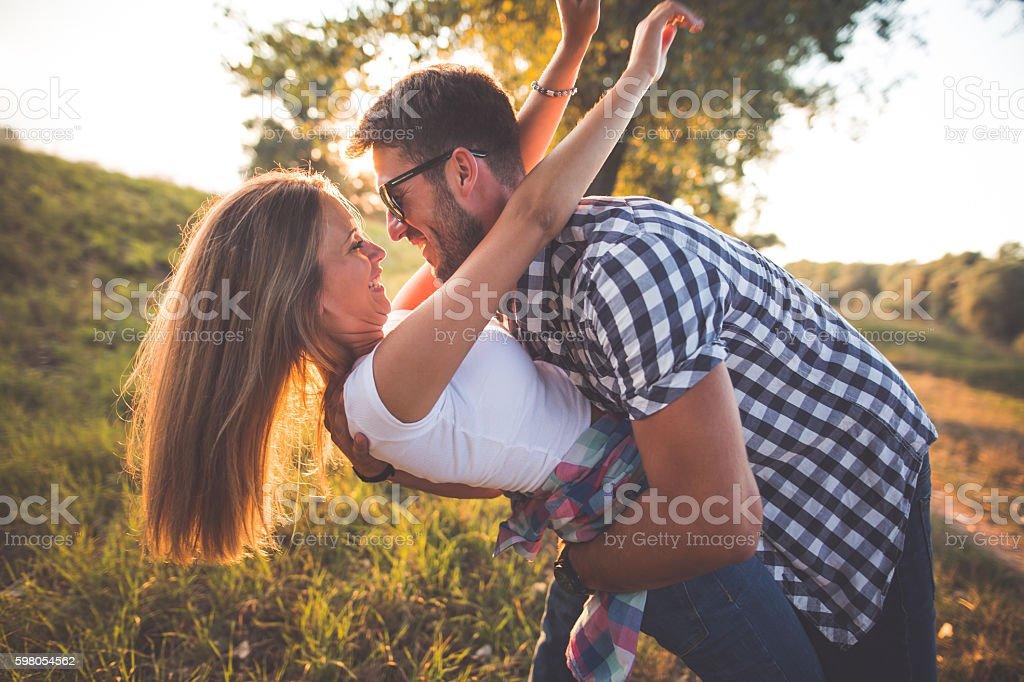 Enjoying in love stock photo