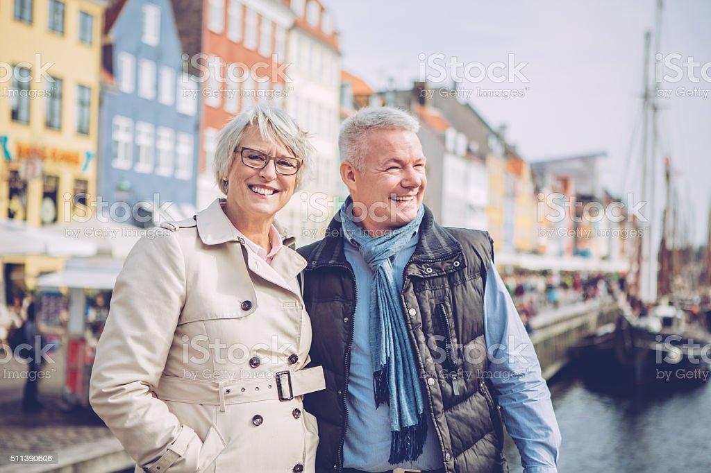 Enjoying in retirement stock photo