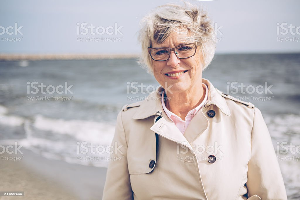 Enjoying in retirement stock photo