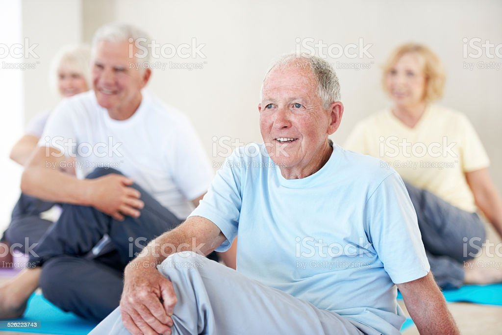 Enjoying life in retirement stock photo
