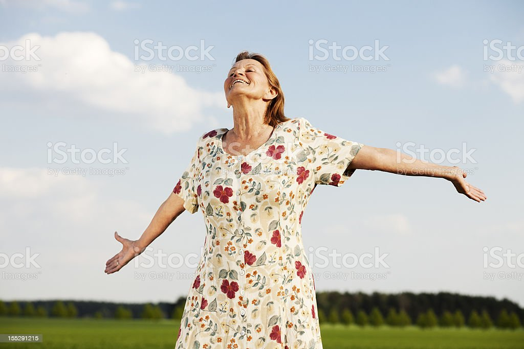 enjoying life royalty-free stock photo