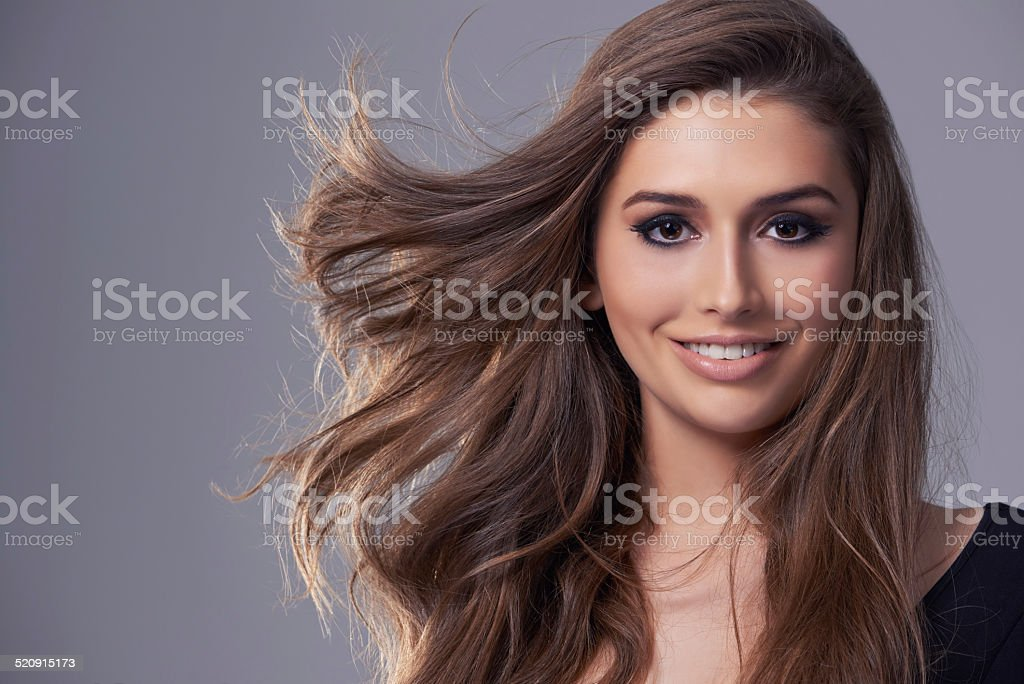 Enjoying life with a smile stock photo