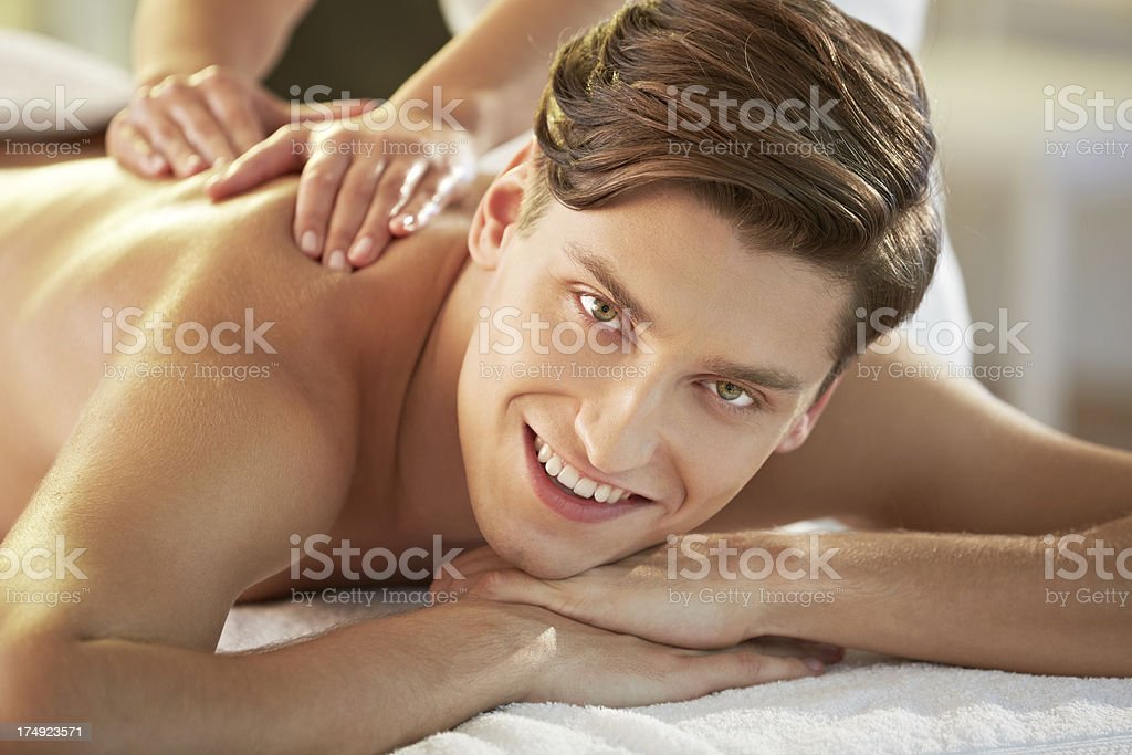 Enjoying massage royalty-free stock photo