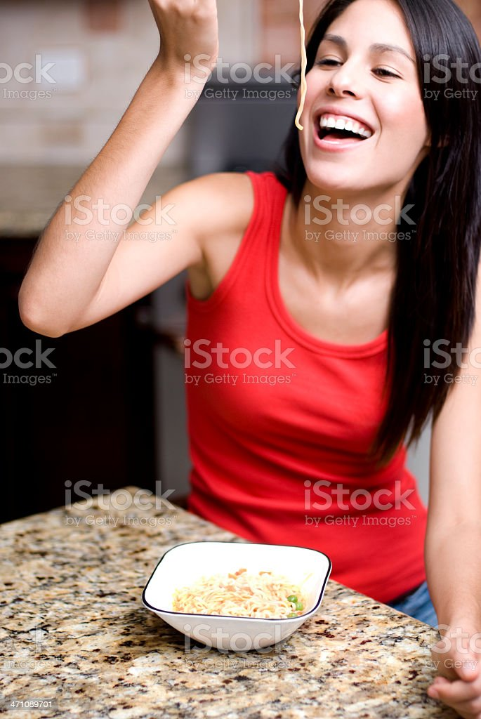 Enjoying meal royalty-free stock photo