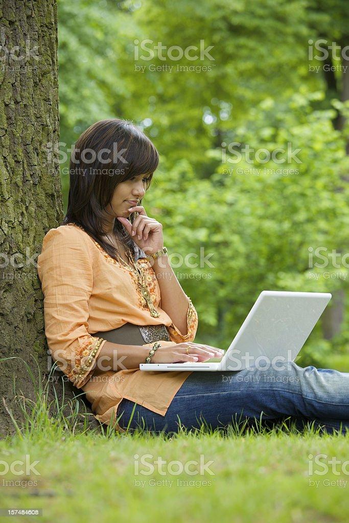 Enjoying Mobile working royalty-free stock photo