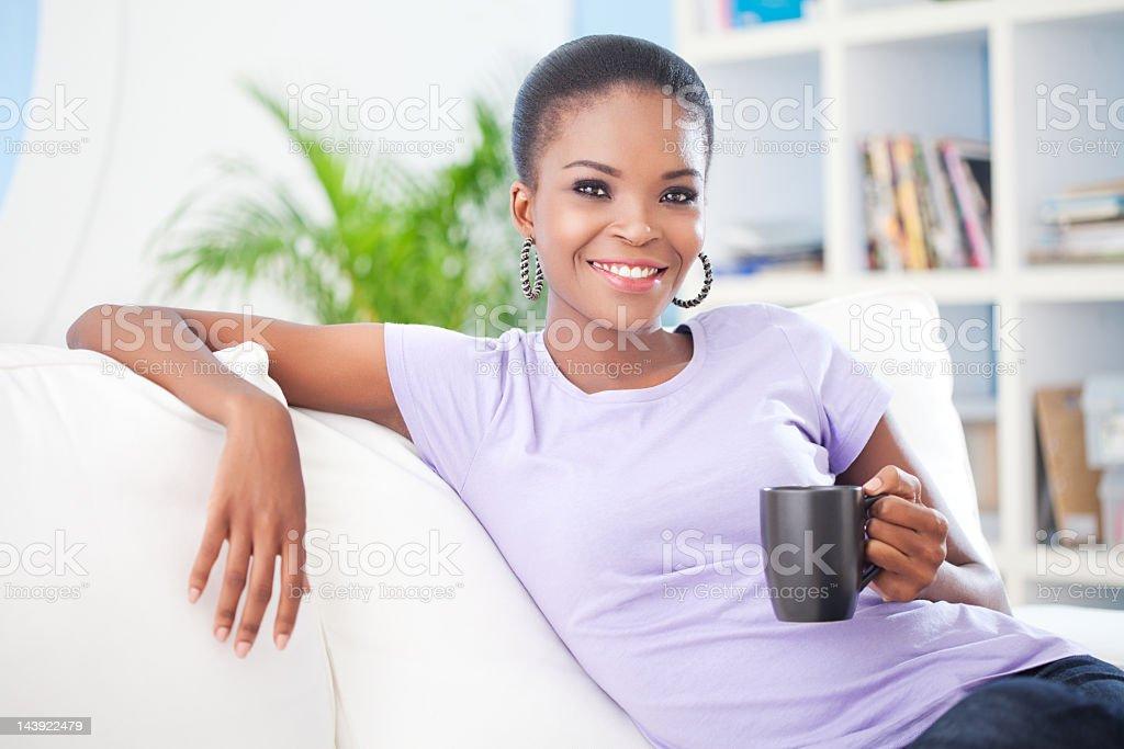Enjoying Morning Coffee royalty-free stock photo