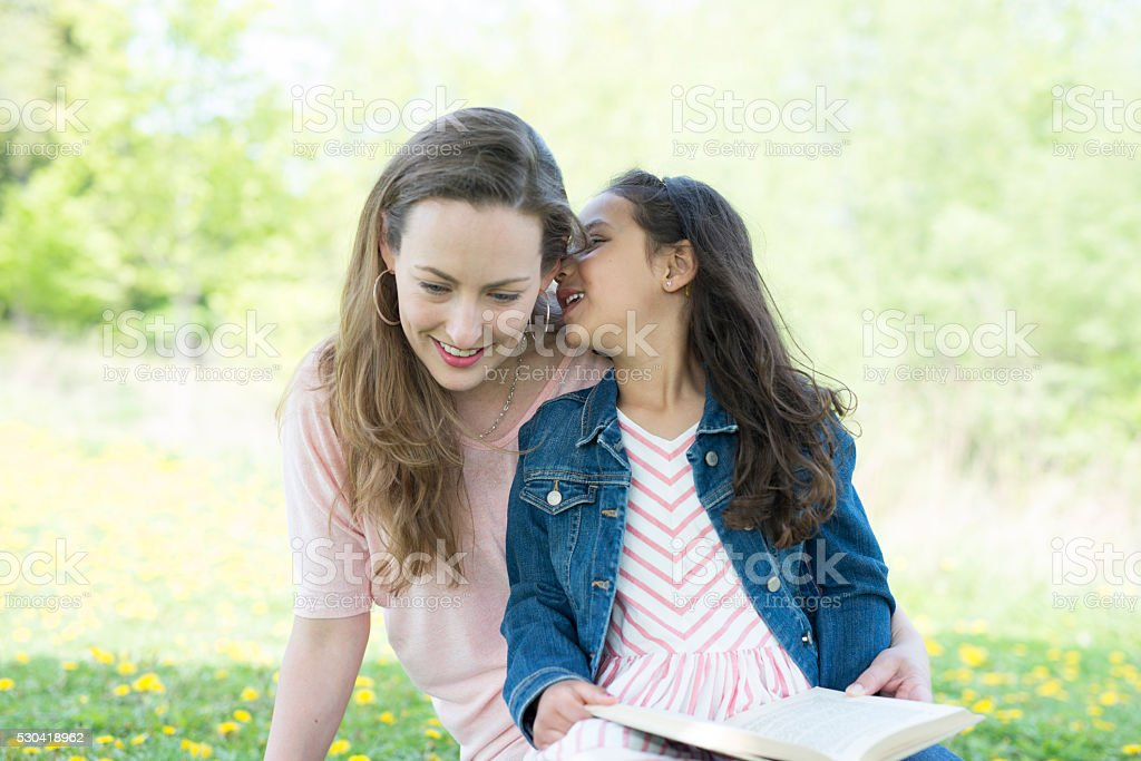 Enjoying Mother's Day in the Park stock photo