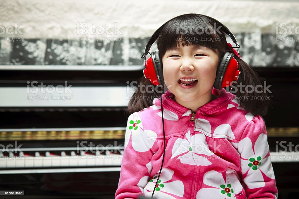 Enjoying Music royalty-free stock photo