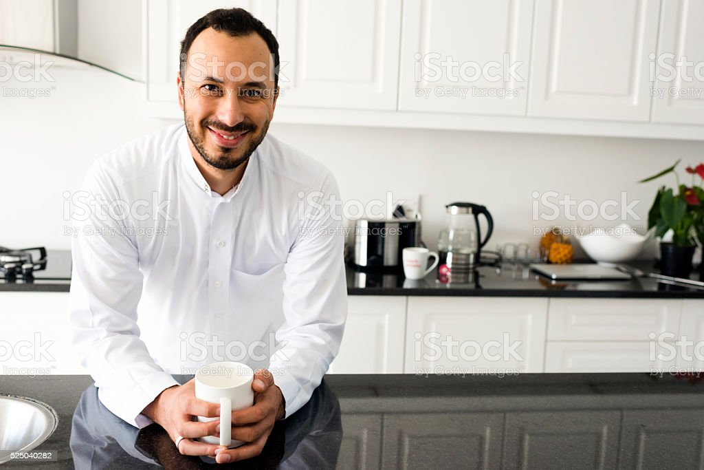 Enjoying My Morning Cup Of Coffee stock photo