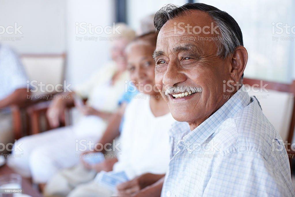 Enjoying my retirement royalty-free stock photo