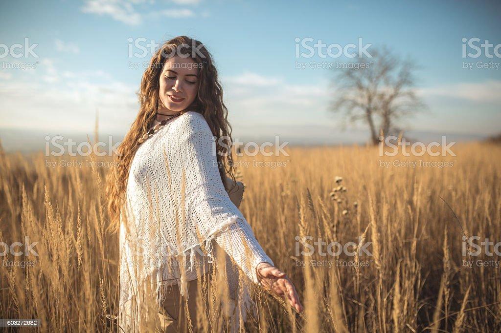 Enjoying my serenity stock photo