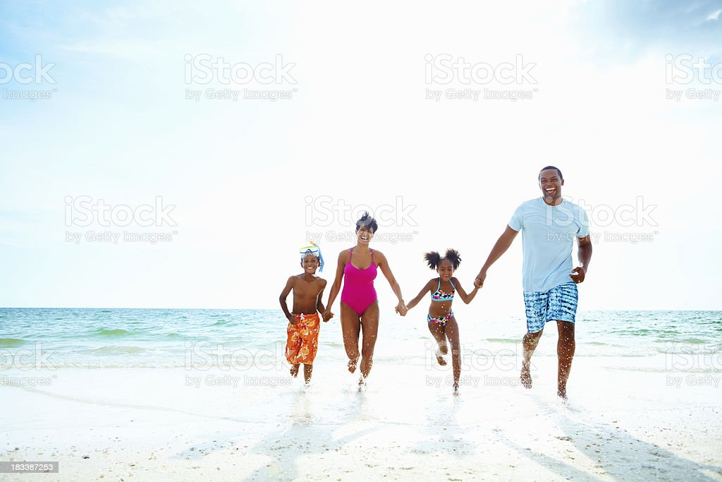 Enjoying our vacation stock photo