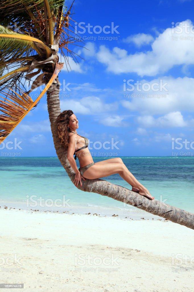 Enjoying paradise stock photo