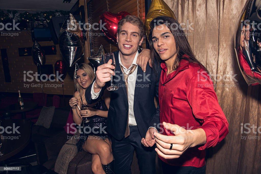 Enjoying party stock photo