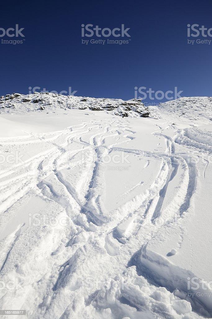 Enjoying powder snow royalty-free stock photo