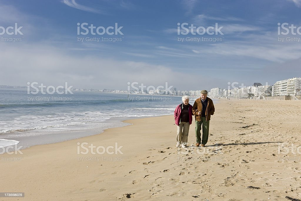 Enjoying retirement royalty-free stock photo