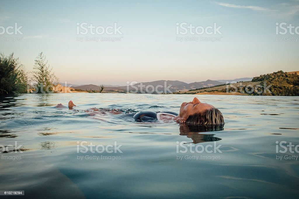 Enjoying some Alone Time stock photo