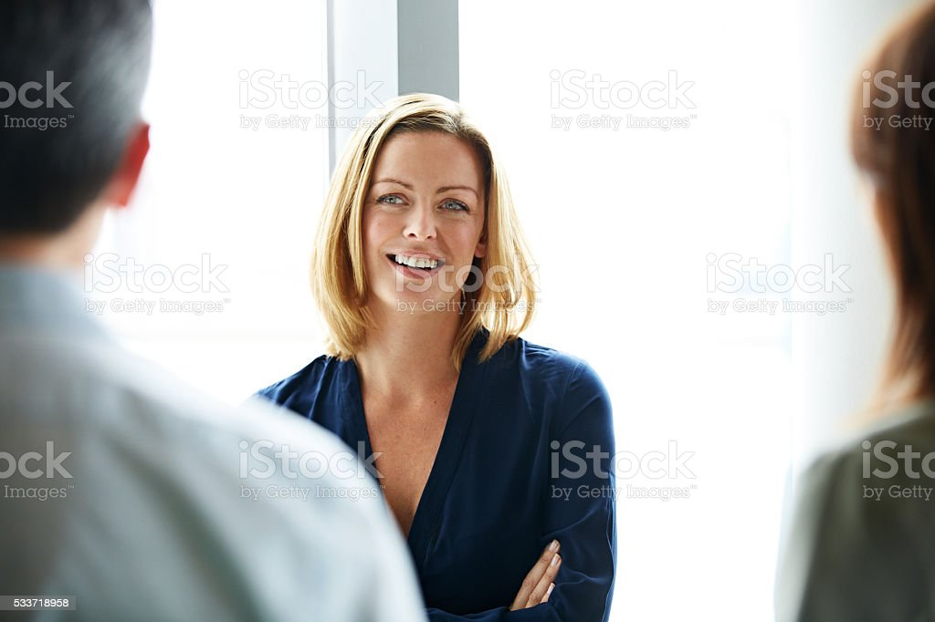 Enjoying some coworker camaraderie royalty-free stock photo