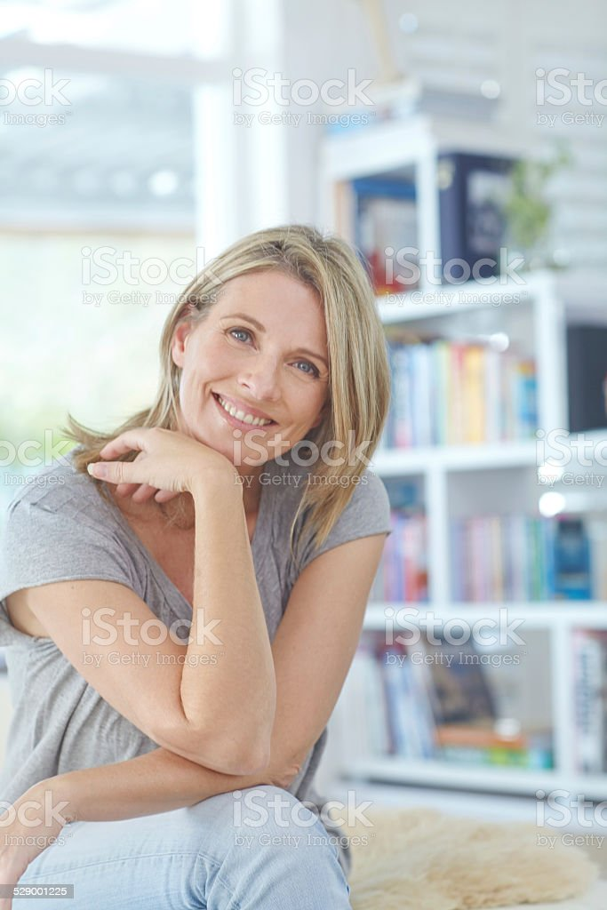 Enjoying some me-time stock photo