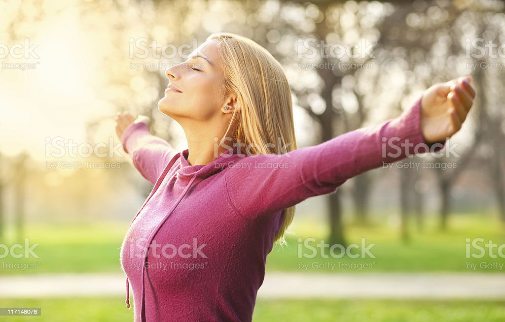 Enjoying Spring Breeze royalty-free stock photo