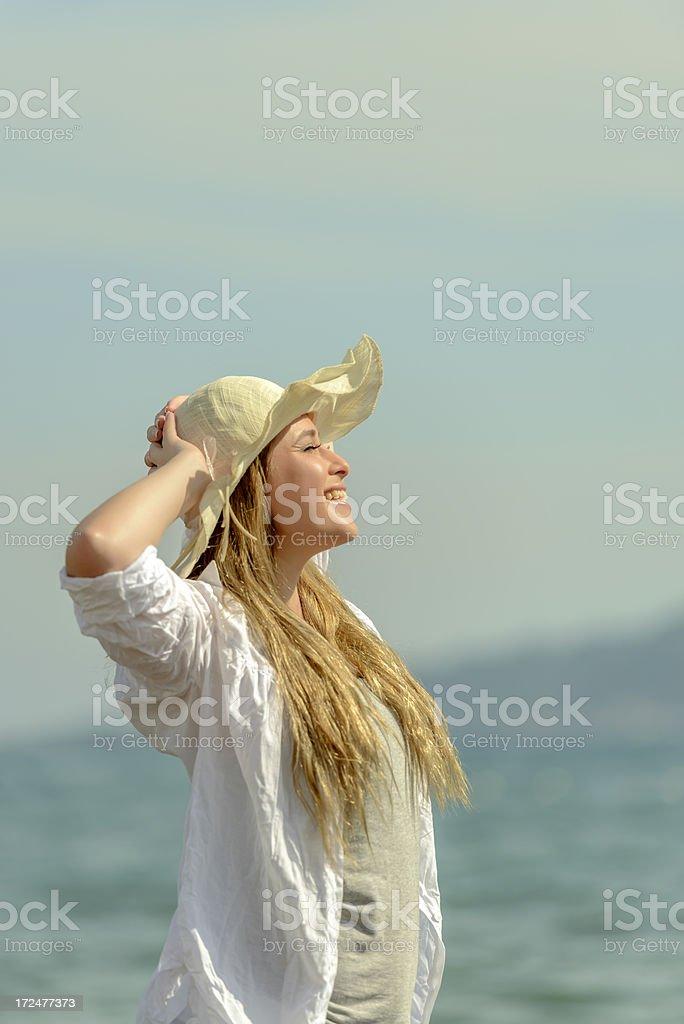 enjoying summer royalty-free stock photo
