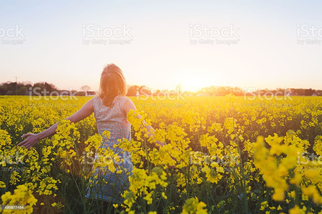 enjoying summer stock photo