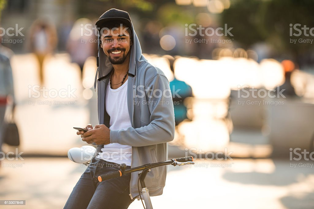 Enjoying sunny day outdoors stock photo