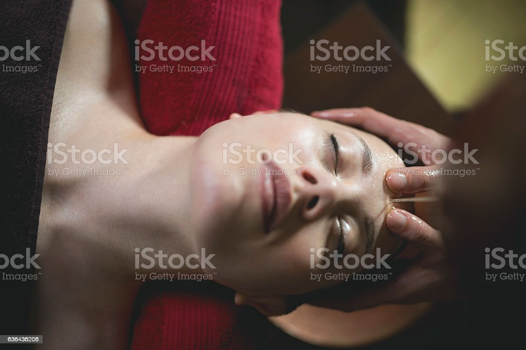Enjoying That Healing Touch stock photo