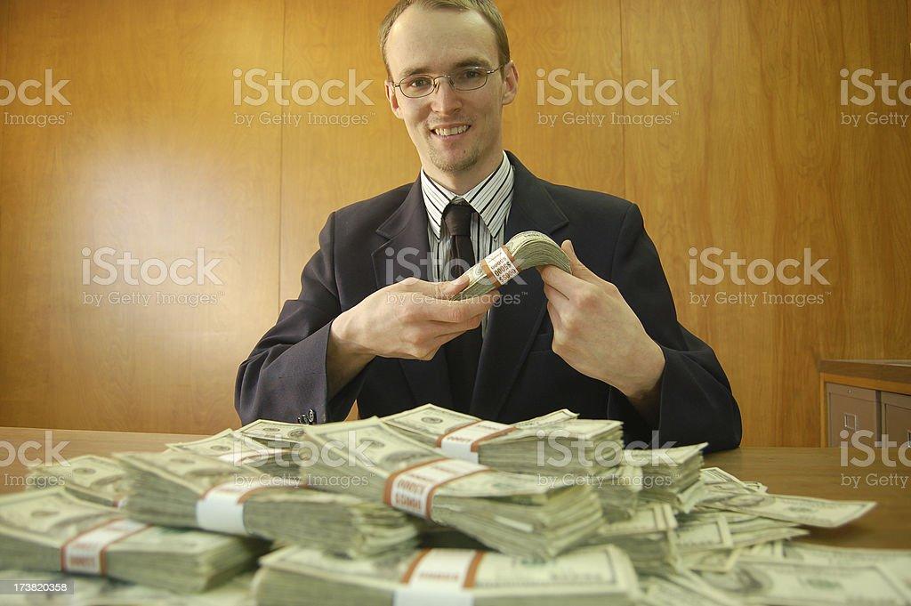Enjoying the Bailout royalty-free stock photo