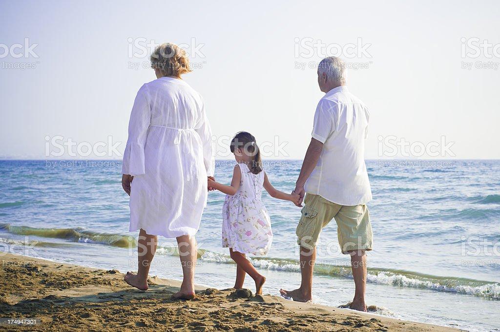 Enjoying the beach royalty-free stock photo