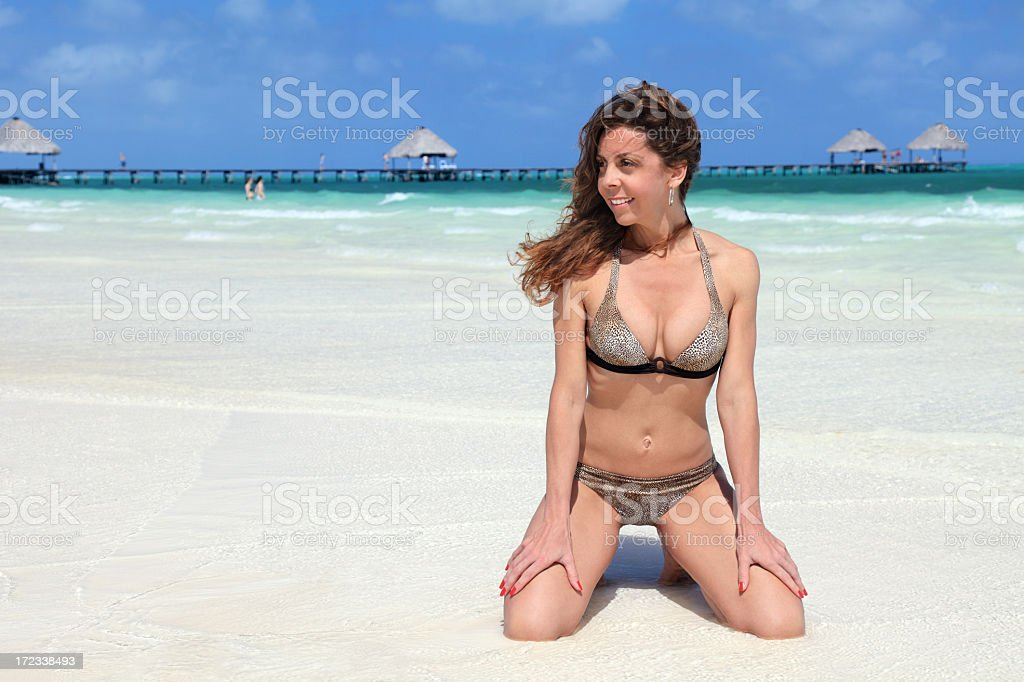 Enjoying the beautiful beach royalty-free stock photo