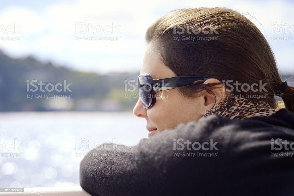 Enjoying the Boat Journey royalty-free stock photo