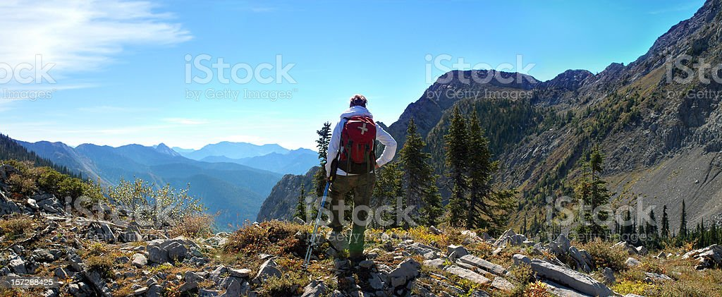 Enjoying the Canadian Rockies royalty-free stock photo