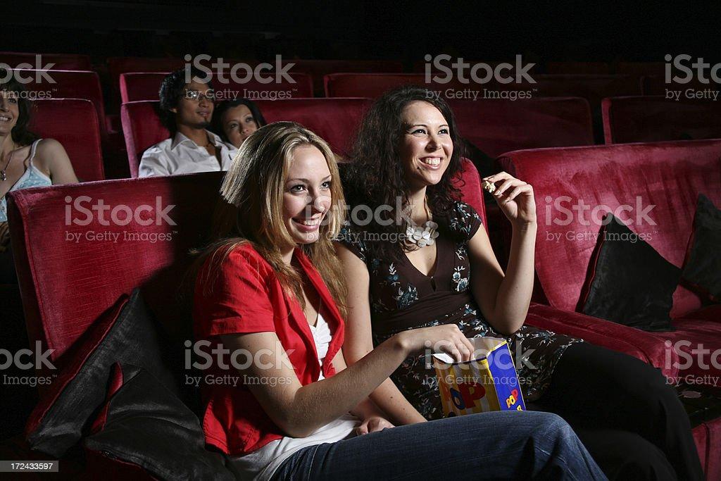 Enjoying the Cinema royalty-free stock photo