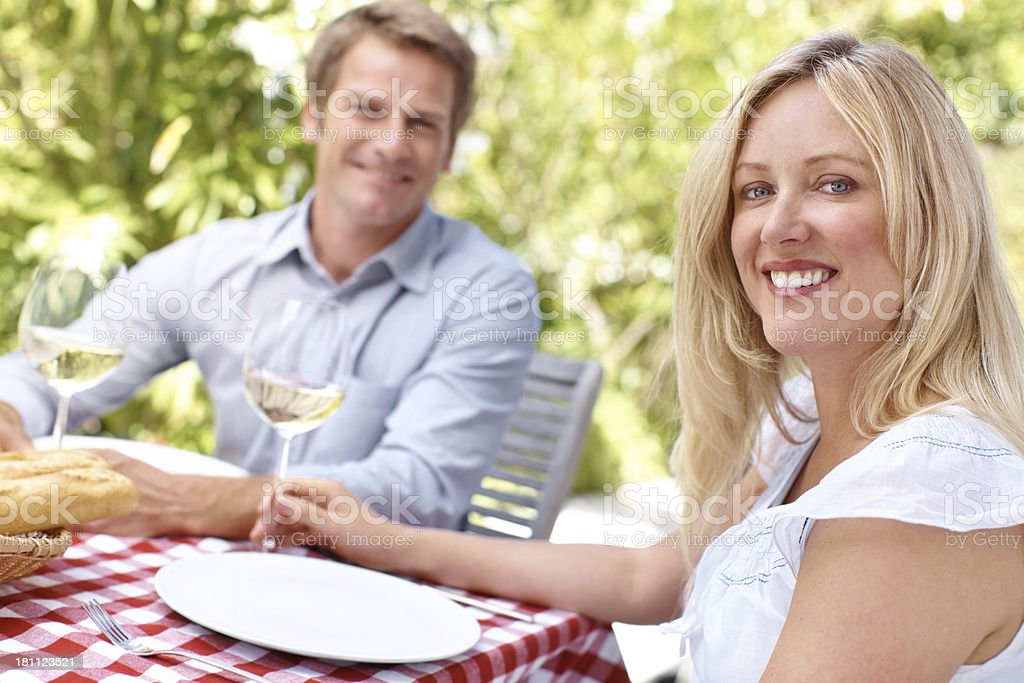 Enjoying the finer things in life royalty-free stock photo