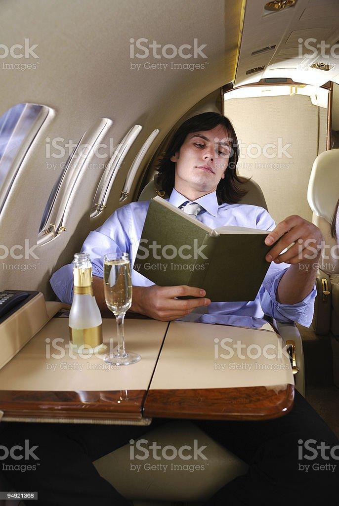 Enjoying the flight stock photo