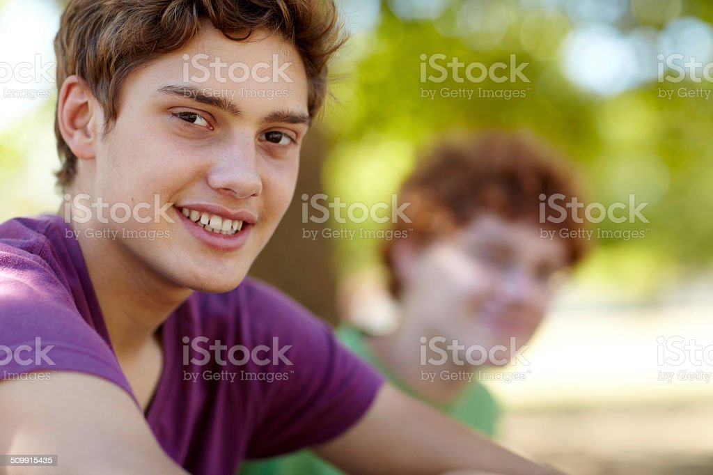 Enjoying the fresh air stock photo