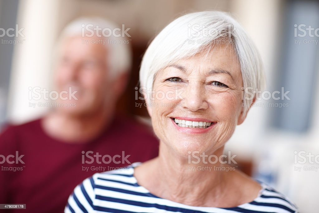 Enjoying the golden years stock photo