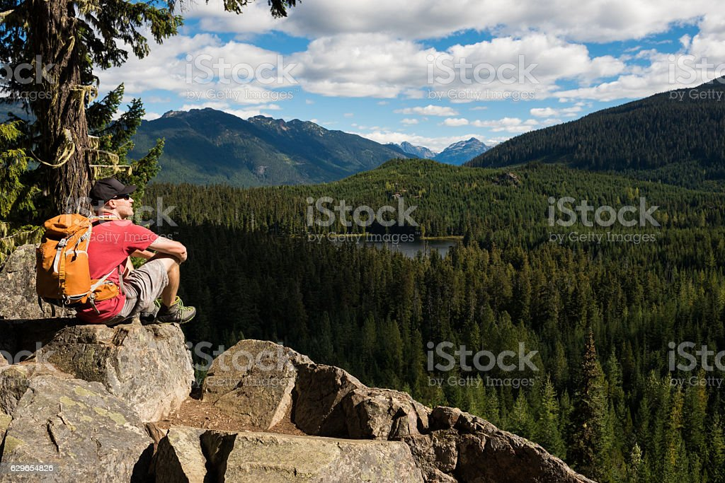 Enjoying the great outdoors stock photo